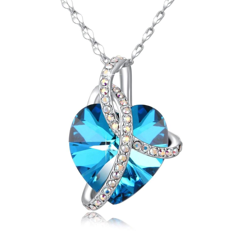 Swarovski Crystal Noble Pendant Necklace, Purple/Blue/Pink