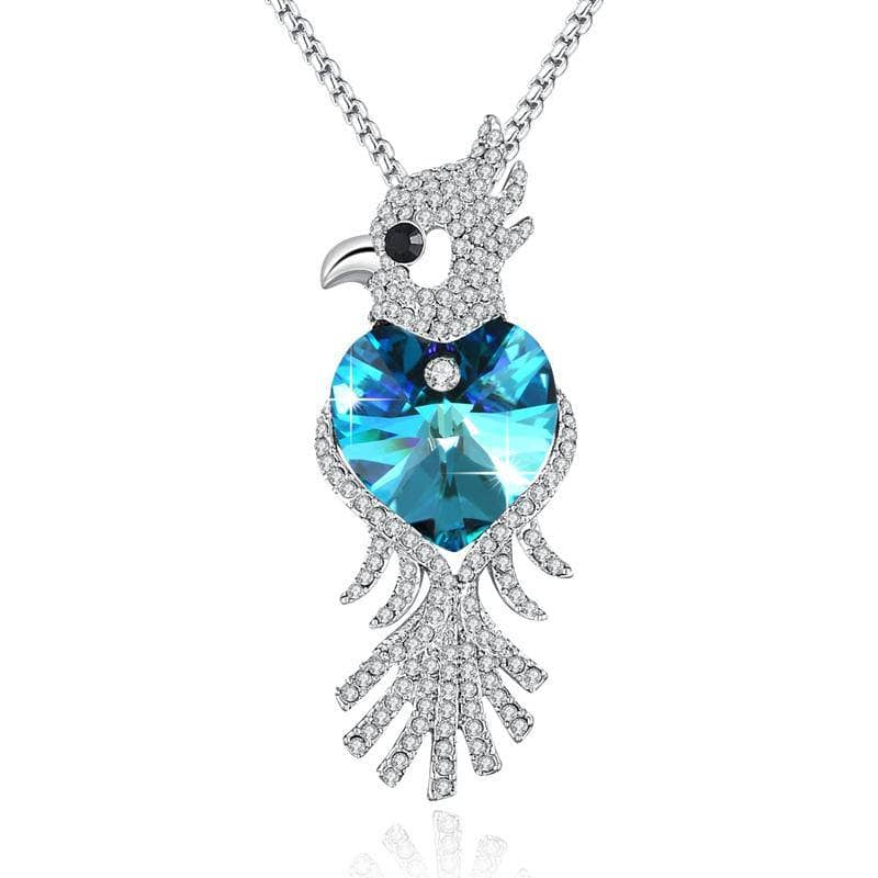 Swarovski Crystal Parrot Necklace