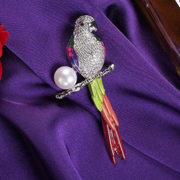 Lovely Parrot Brooch For Her