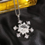 Snowflake Pendant Necklace Gift