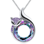 Plato H Fox Necklace Crystals from Swarovski Anniversary Jewelry Gift for Women Teen Girls