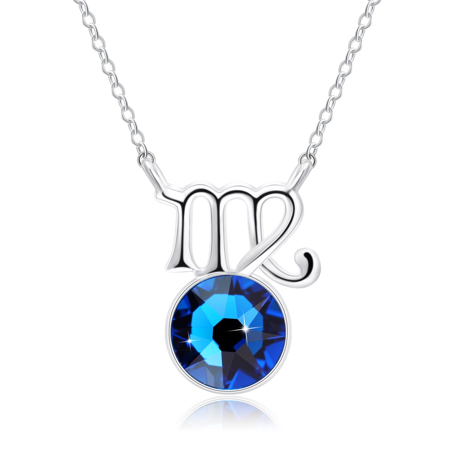 pilgrim virgo zodiac products sign necklace plated silver crystal