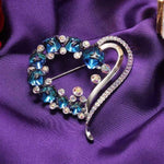 Heart Cubic Brooch