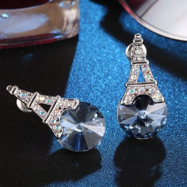 Ocean Blue Earring Tower Eiffel Tower Earrings For Wife