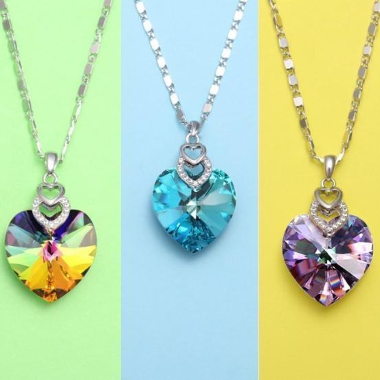 Heart Necklace Color