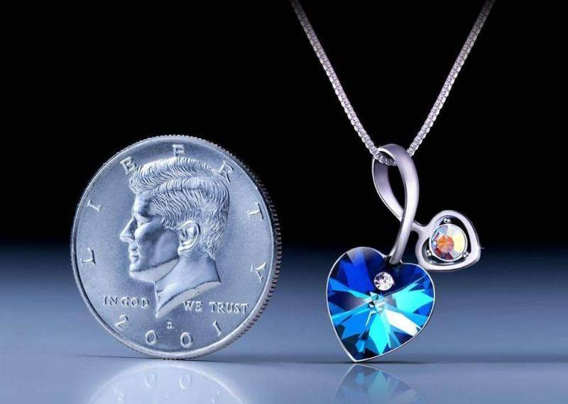 Soul-Mate Necklace Blue Crystal