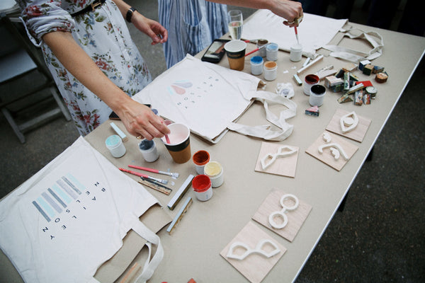Block printing with Ren London