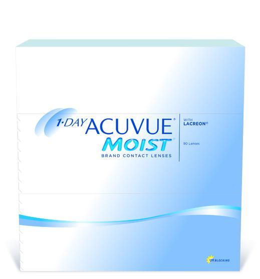 1 Day Acuvue Moist - 90 pack in 90 Pack / 8.5 base curve