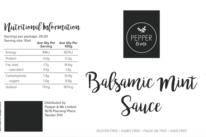Balsamic Mint Sauce