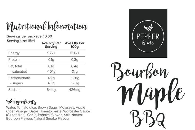 Bourbon Maple BBQ sauce - 300ml