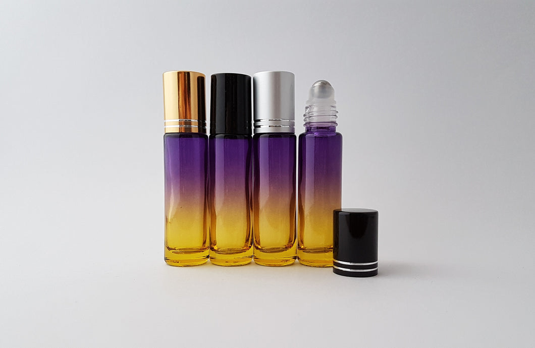 10ml Purple/Yellow ombre roller bottle