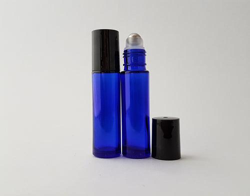 100 x 10ml Blue roller bottles