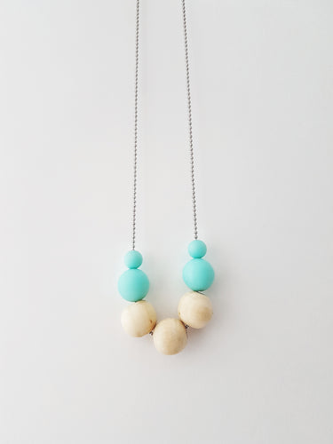 Petite Round Necklace - Mint