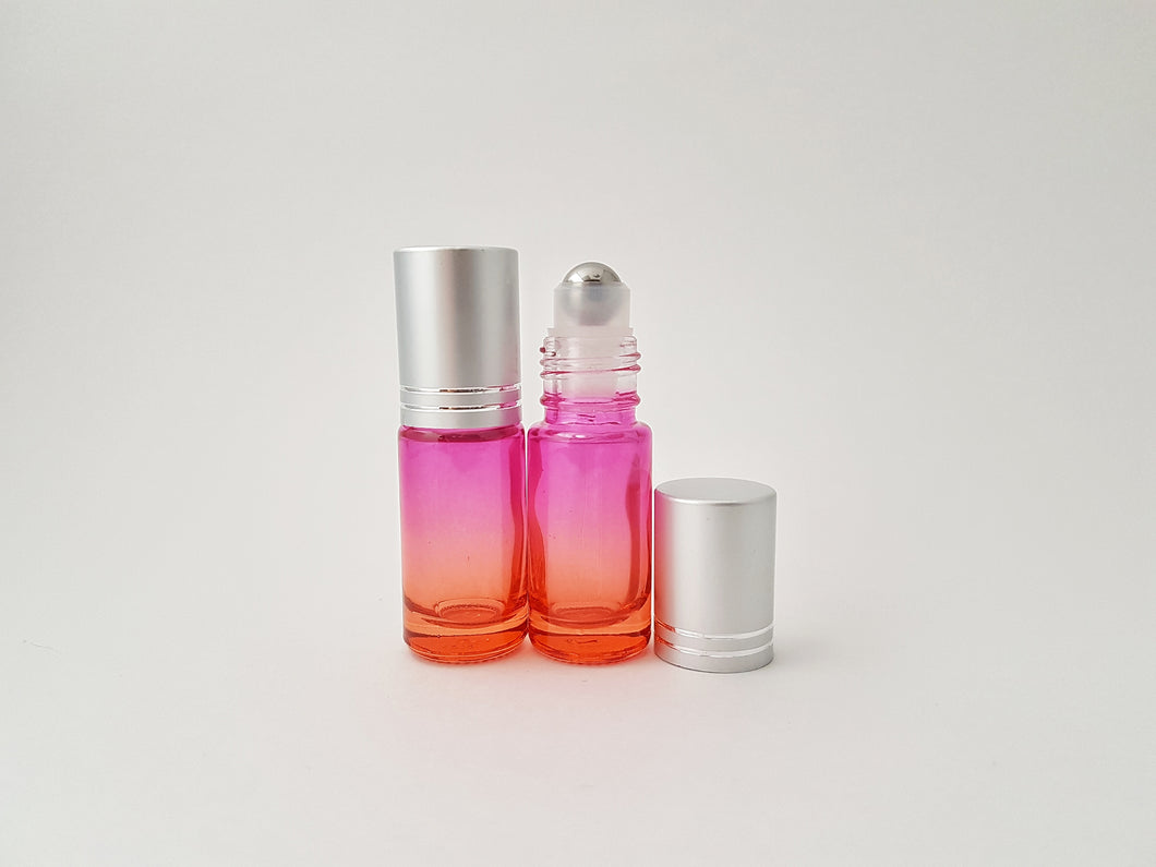 5ml Pink/Orange ombre roller bottle
