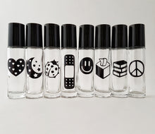 5 x 10ml Clear Roller Bottles with Pictorial LABELS