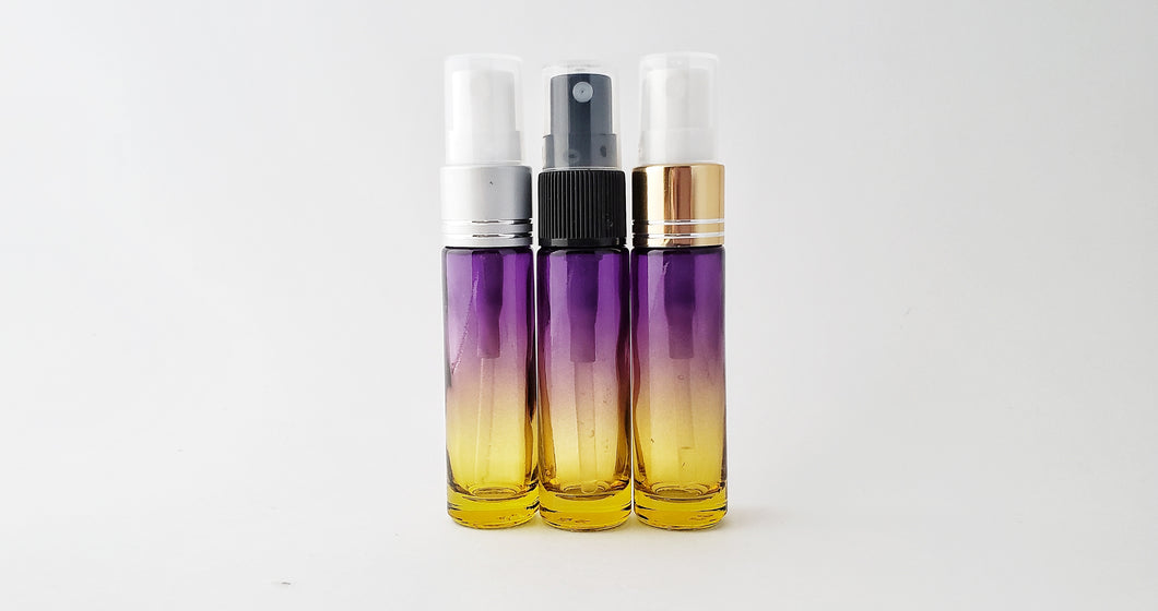 10ml Purple/Yellow ombre bottle with spray