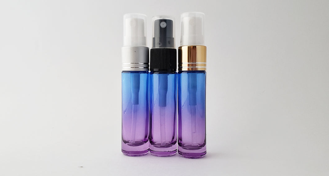 10ml Blue/Purple ombre bottle with spray