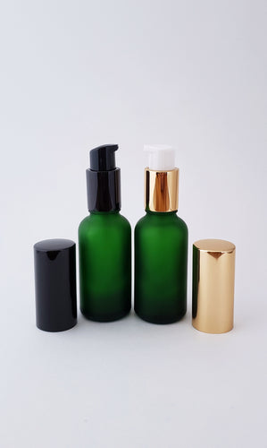 30ml frosted green bottle with lotion/serum pump