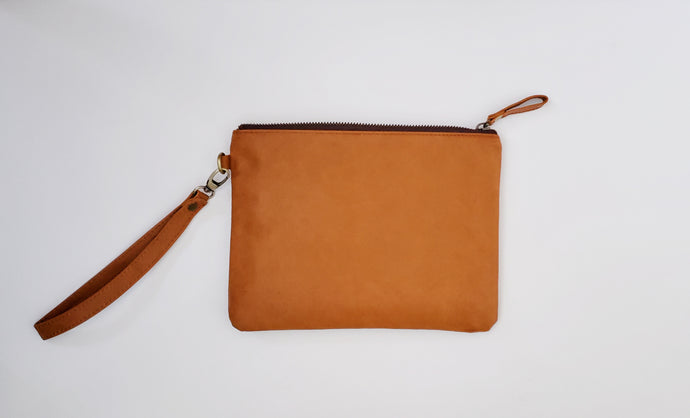 Tan Daily Leather Clutch