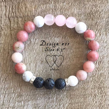 Howlite, Lepidolite, Rose Quartz, Lava Beads and Rhinestones - Design #11