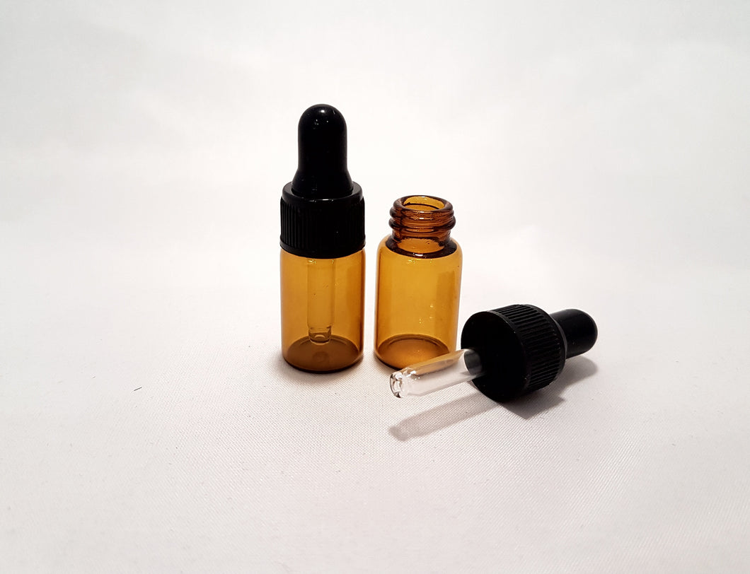 3ml Amber bottle with dropper | ${description} | 3ml, amber, dropper, glass$ | Mysentials