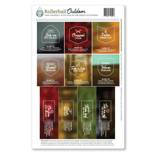 Rollerball Outdoor Full Set Labels