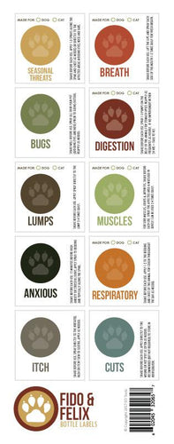 Fido & Felix Variety Labels