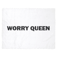 worry queen fleece blanket