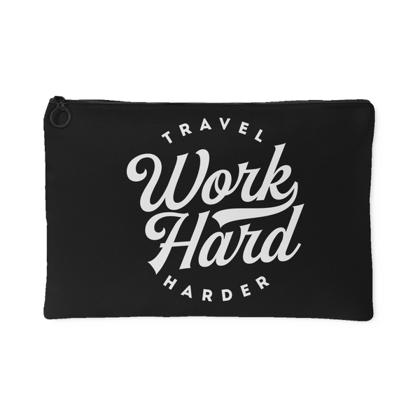 Work Hard Travel Harder Pouch - OWTwear