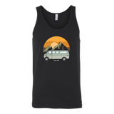 Van in the mountains unisex tank top - OWTwear
