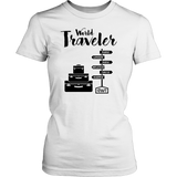World Traveler Womens Shirt (Black Logo) - OWTwear