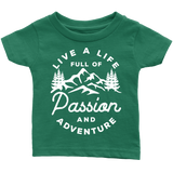 Live a life full of passion and adventure kids shirt - OWTwear