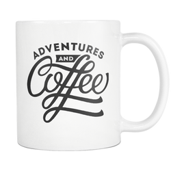 Adventures and Coffee Mug White - OWTwear
