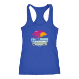Van at the beach racerback tank top (bhumi) - OWTwear