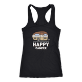 Happy Camper Womens Racerback Tank Top - OWTwear