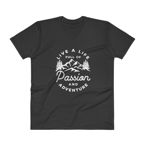 Live a life full of passion and adventure V-Neck T-Shirt - OWTwear