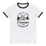 Live a life full of passion and adventure Ringer T-Shirt - OWTwear