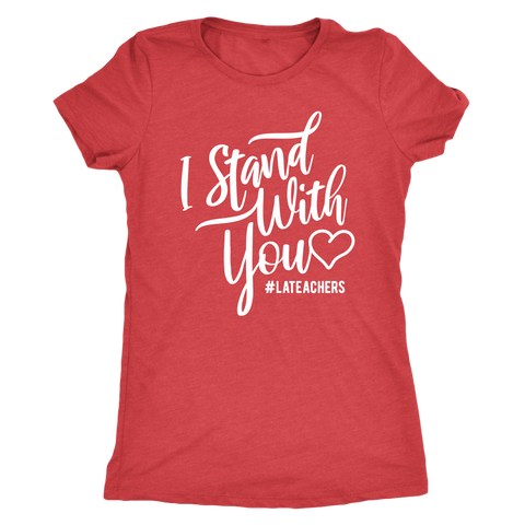 I Stand With You Womens Shirt (White Font) - OWTwear