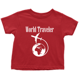 World Traveler Toddler Shirt White Logo - OWTwear