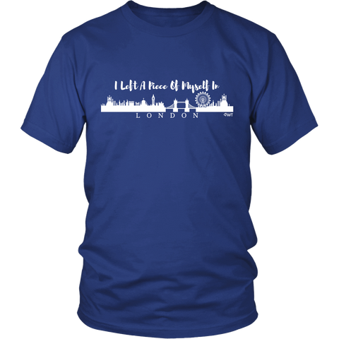 I Left A Piece Of Myself In London Unisex Shirt (White) - OWTwear