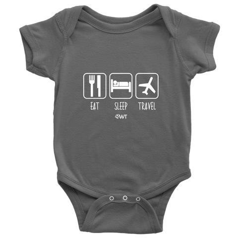 Eat Sleep Travel Baby Onesie - OWTwear