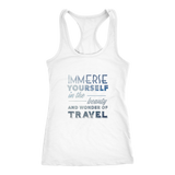 Immerse Yourself In The Beauty Of Travel Ladies Tank - OWTwear