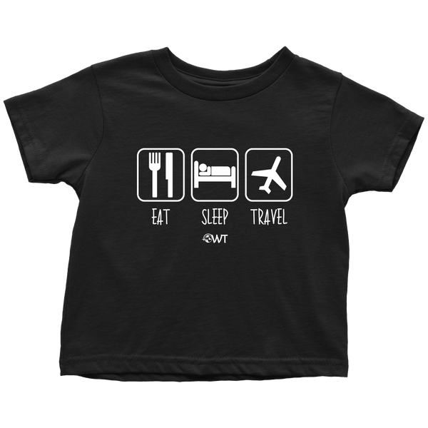 Eat Sleep Travel Toddler Shirt - OWTwear