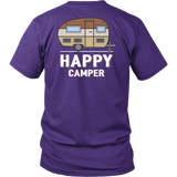 Happy Camper Unisex Shirt Backside - OWTwear