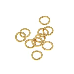 6mm gold plated or rhodium plated metal jump rings, 19 gauge. 200 pcs.