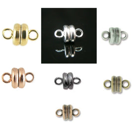 SUPER STRONG 7x6 mm silver, gold, or copper plated, black oxide, antique silver, bronze, copper magnetic clasps