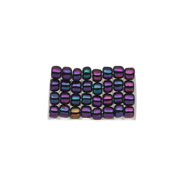 Size 8/0 opaque iris peacock purple Matsuno glass seed beads, 20 grams, approx. 600 beads