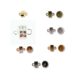 9 x 7 mm SUPER STRONG silver plated magnetic clasps