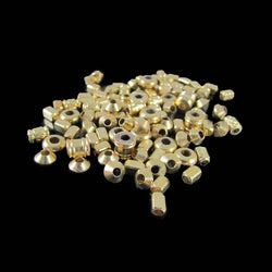 Raw (unplated) brass  bead assortment, 1 oz. (approximately 75- 83 beads)