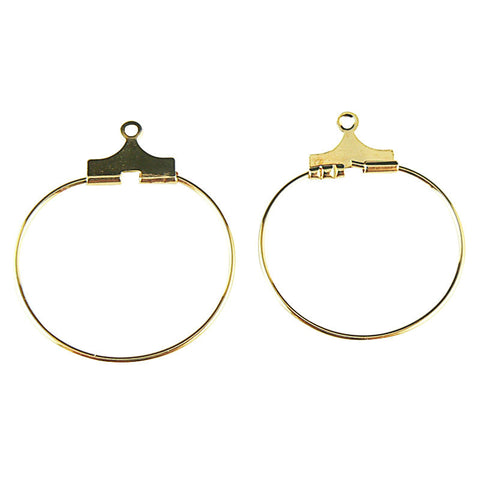 20mm gold plated beading hoops, 24 pcs.